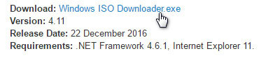 Download Windows ISO Downloader