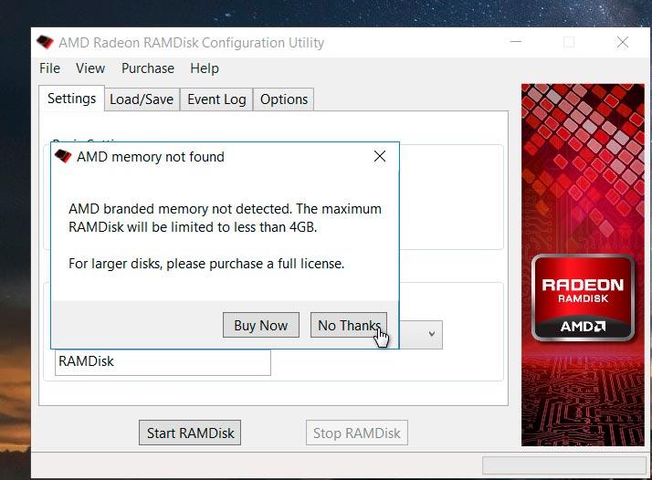 Radeon™ RAMDisk