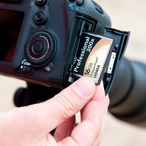 Выбор карты памяти для записи видео