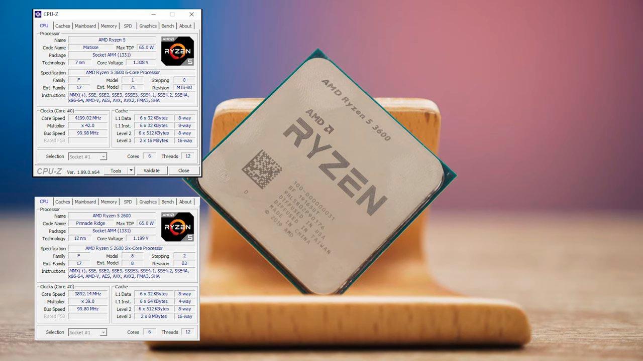 Ryzen5 3600 vs Ryzen5 2600